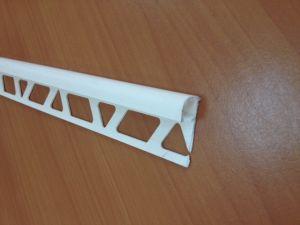 PVC завършващ профил с отвор 10мм -бял