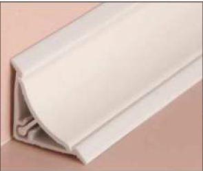 PVC уплътнител ъглов за вана (вътрешен ъгъл) 25/25мм - бял